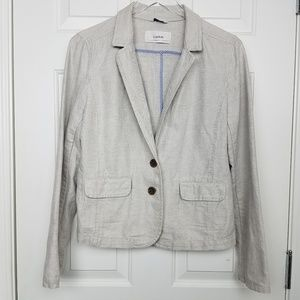 Caslon Large Two-Button Linen/Cotton Blazer